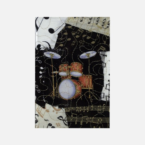 Drum-set-8064-kindle-nook Rectangle Magnet