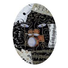 Drum-set-8064-kindle-nook Oval Ornament