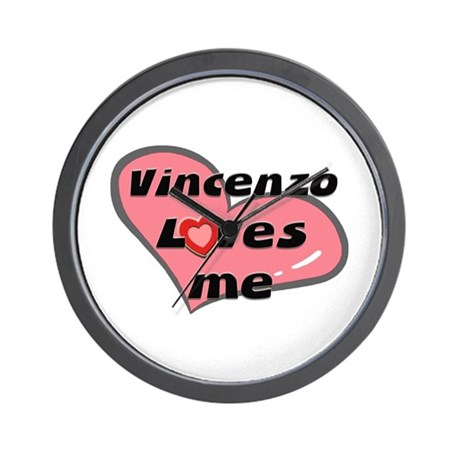 vincenzo loves me Wall Clock
