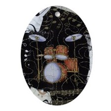 Drumset-iPhone3G-hard-8064 Oval Ornament