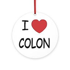 COLON Round Ornament