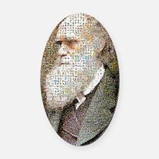 Darwin Primate Mosaic (16x20) Oval Car Magnet