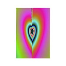 Broken-Heart-Fractal-iPad case Rectangle Magnet