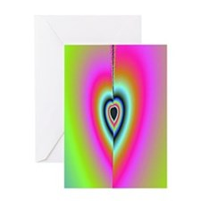Broken-Heart-Fractal-iPad case Greeting Card