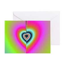 Broken-Heart-Fractal-laptop-skin Greeting Card