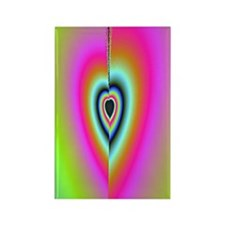 Broken-Heart-Fractal-iPad 2 case Rectangle Magnet
