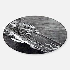 oriskany cv framed panel print Sticker (Oval)