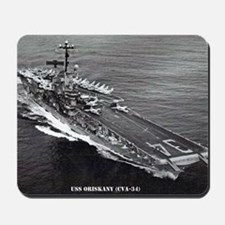 oriskany cva framed panel print Mousepad