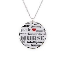 Nurse Pride black with red h Necklace