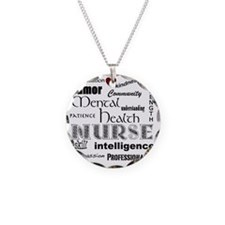Mental Health Nurse Black-re Necklace