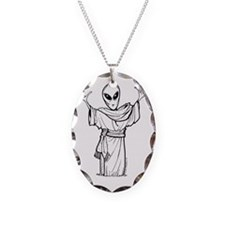 ANCIENT ALIEN Necklace Oval Charm