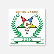 "OES WMatron CUSTOM year Square Sticker 3"" x 3"""