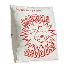 CaptainObviousVintage Burlap Throw Pillow