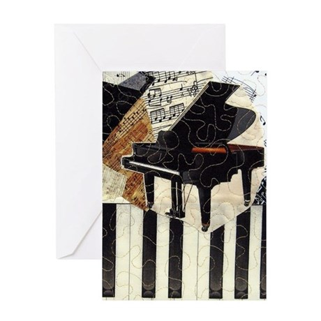 Piano-itouch Greeting Card
