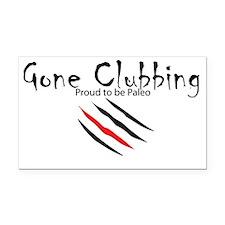 clubbing Rectangle Car Magnet