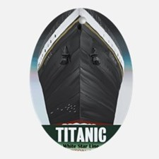 Titanic Poster Oval Ornament