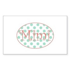 Sassy Mimi in Aqua and Coral Decal