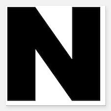 """n_arial_l Square Car Magnet 3"""" x 3"""""""