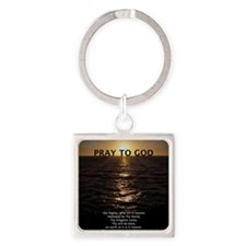 feb11_our_father_hermosa Square Keychain