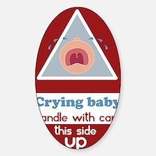 crying baby BOY Sticker (Oval)