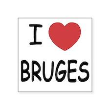 """BRUGES Square Sticker 3"""" x 3"""""""