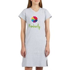 Kimberly-Heart-Flower Women's Nightshirt