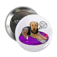 """Airedale Valentine's 2.25"""" Button (10 pack)"""