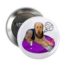 Airedale Valentine's Button