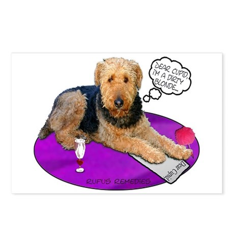 Airedale Valentine's Postcards (Package of 8)
