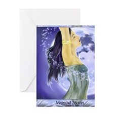 magical moon 5x8_journal Greeting Card