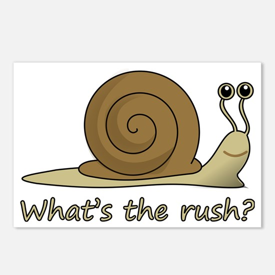 whats the rush Postcards (Package of 8)
