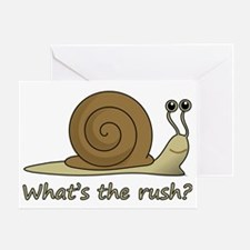 whats the rush Greeting Card