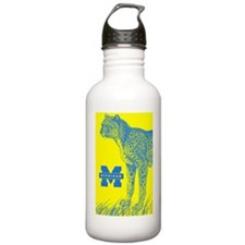 dom lucas cheetah copy Water Bottle