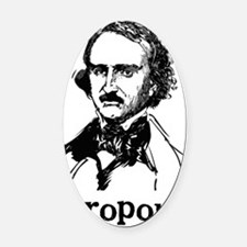 Edgar Allan Poe Dropout Oval Car Magnet