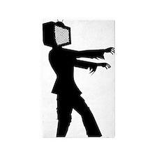 zombie tv 3'x5' Area Rug