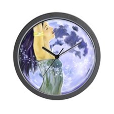 9x12_print magical moon Wall Clock