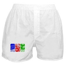 Triathlon TRI Swim Bike Run Rectangles Boxer Short