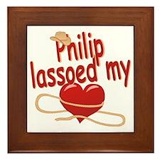 philip-b-lassoed Framed Tile