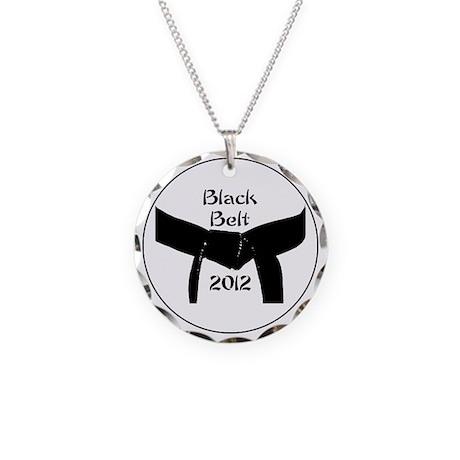 Martial Arts Black Belt 2012 Necklace Circle Charm