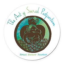 Sacred Postpartum Round Round Car Magnet