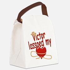 victor-b-lassoed Canvas Lunch Bag