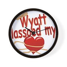 wyatt-b-lassoed Wall Clock