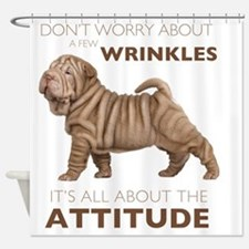 attitude Shower Curtain
