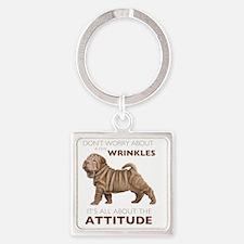 attitude Square Keychain