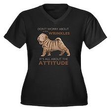 attitude Women's Plus Size Dark V-Neck T-Shirt