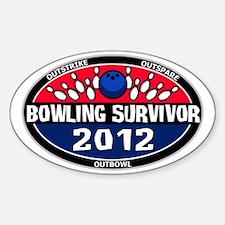bowling survivor 2012 logo Sticker (Oval)