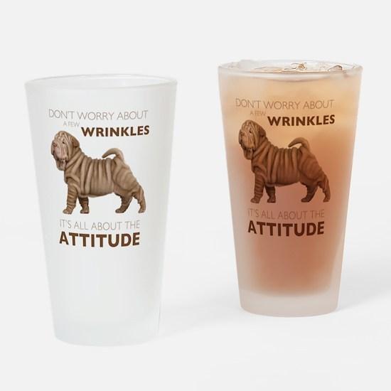 attitude2 Drinking Glass