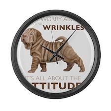 attitude2 Large Wall Clock
