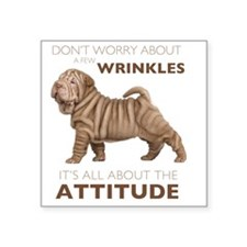 "attitude2 Square Sticker 3"" x 3"""