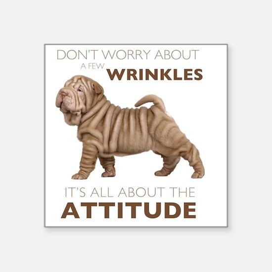 """attitude2 Square Sticker 3"""" x 3"""""""
